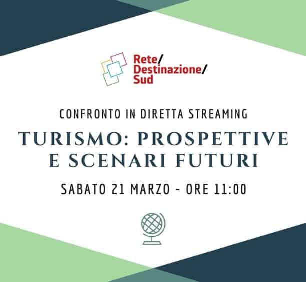 """Locandina evento Facebook """"Turismo: Prospettive e scenari futuri"""""""