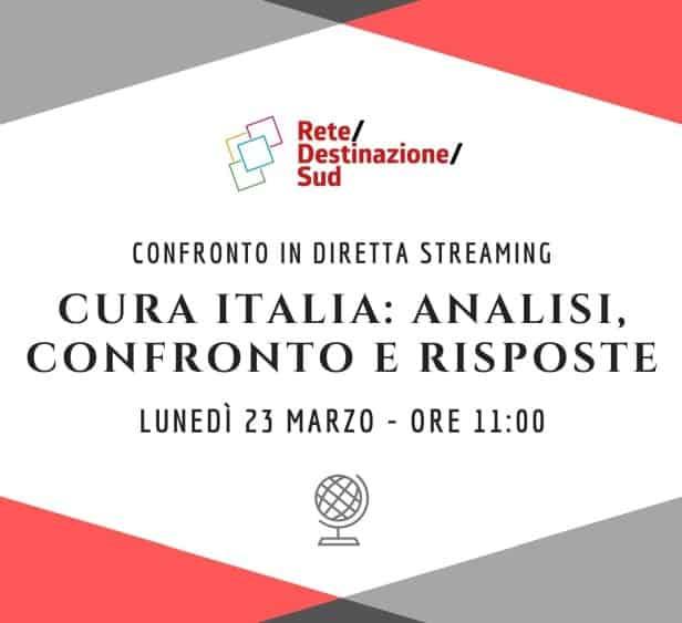 "Locandina evento Facebook ""Cura Italia: Analisi, confronto e risposte"